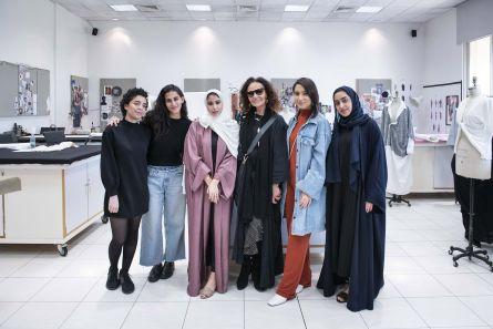 Legendary Fashion Designer Diane Von Furstenberg Visits Vcuarts Qatar